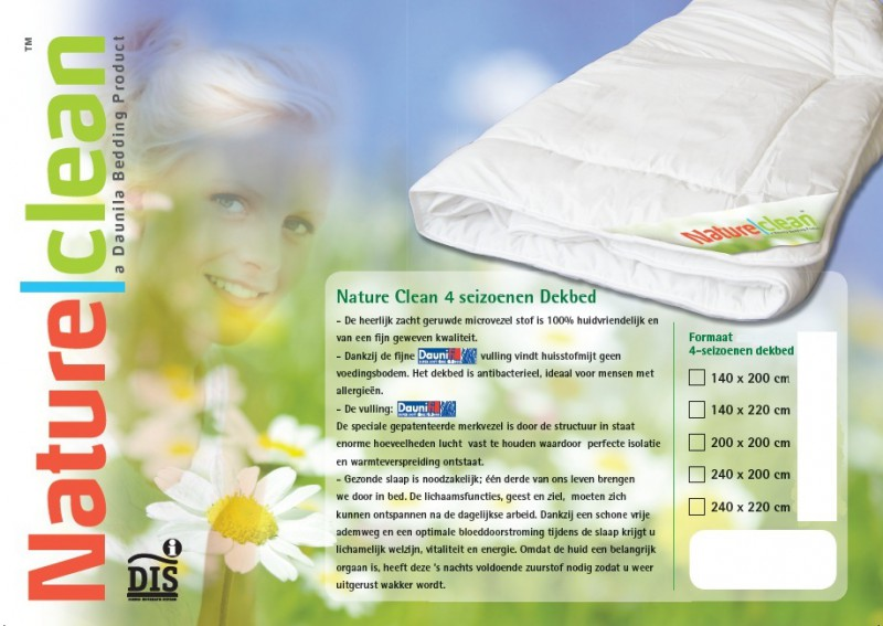 Dekbed Nature Clean 4 Seiz.